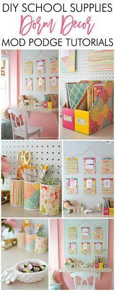 Adorable DIY Dorm School Supplies Dorm Decor W/ Tutorials. Diy Dorm RoomDiy  Crafts ... Part 70