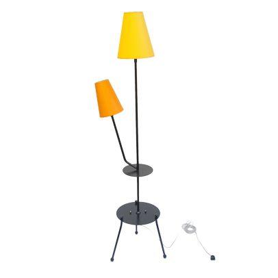 Bardzo ciekawa lampa podłogowa z lat 60 produkcji polskiej. Całość odnowiona w lakierni proszkowej w…