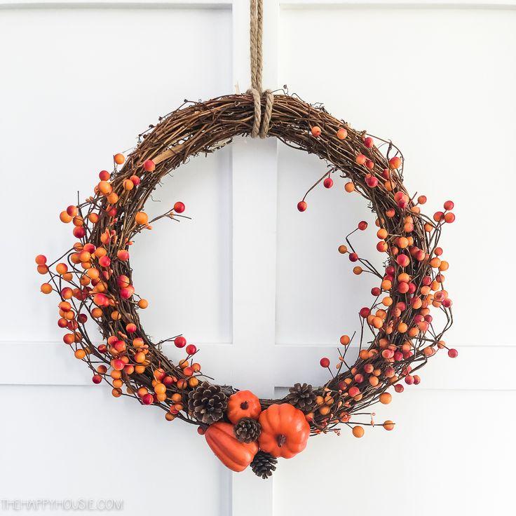 Easy DIY Dollar Store Fall Berry Wreath DIY