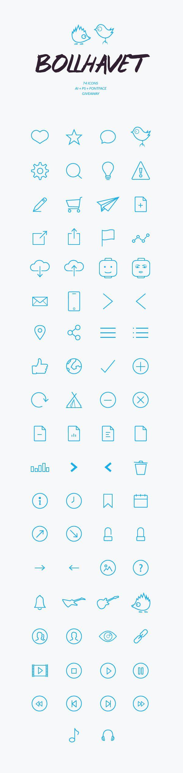 Bollhavet Free Flat Icon Set