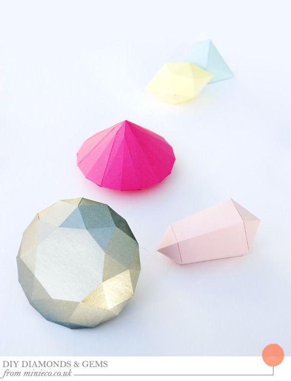 紙でできたダイアモンド*お部屋に飾りたい、精巧なペーパーダイアモンドの作り方|MERY [メリー]