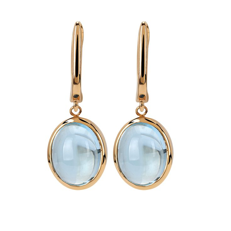 Blue Topaz known as the 'Gem of Love' or the 'Gem of Abundance'. It is believed to protect from any coldness that could come between lovers. Furthermore, it helps us notice our own skills and peculiarities. #gems #jewelry #earring #bluetopaz
