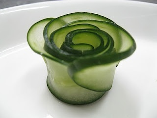 cucumber rose...google for a video on how to make. So easy.