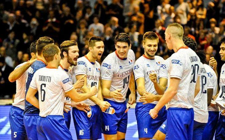 Maillot de l'#équipe de France de #volley-ball masculin #errea #euro 2013