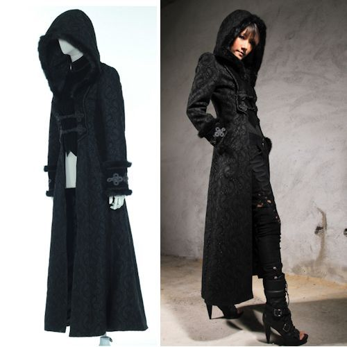 A Black Hooded Trench Coat Conspicuous As It May Be Is