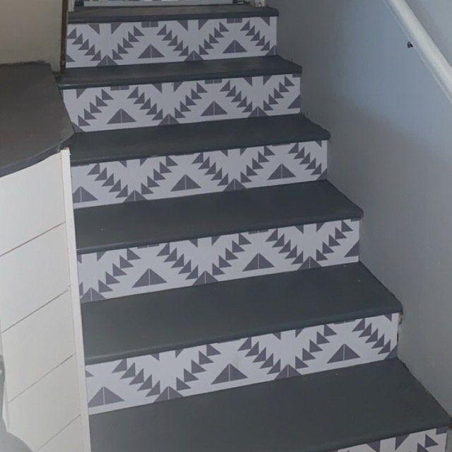 Vinyl Floor Tile Sticker Floor Decals Carreaux Ciment Encaustic Corona Tile Sticker Pack In Black In 2020 Floor Decal Tile Decals Vinyl Tile