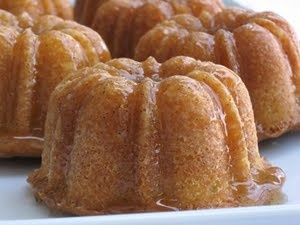Butter Rum Bundt Cakes.  I'm also going to do other flavor cakes soaked in alcohol (Chocolate Cake & Patron / Almond Cake & Grand Marnier / Lemon & Limoncello).