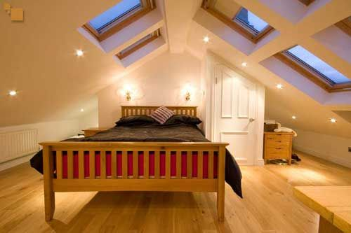 Gable attic ideas space saving loft design pratical storage solutions individual design - Loft conversion bedroom design ideas ...