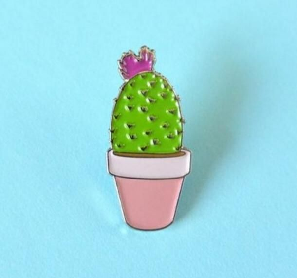 Timlee X039 New Oil Drop Cute Cactus Pots Planet Metal Brooch Pins Button Pins Girl Jeans Bag Decoration Gift Wholesale-in Brooches from Jewelry & Accessories on Aliexpress.com | Alibaba Group