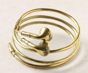 CuteFashion, Ears Bud, Earbuds Bracelets, Style, Jewelry, Headphones, Golden Earbuds, Accessories, Earphones Bracelets