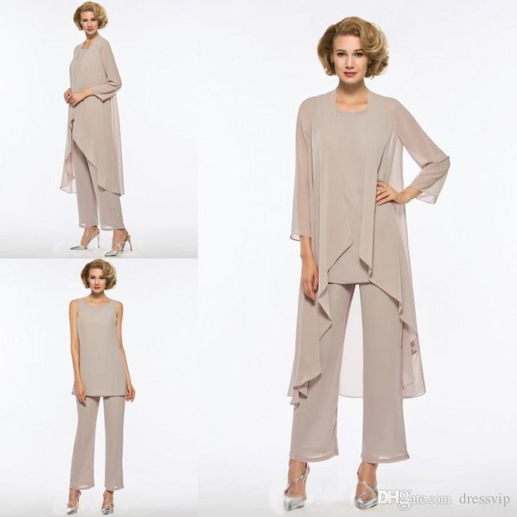 Plus Size Mother Of The Bride Pant Suit Chiffon For Beach Wedding Dress Mother'S Dress Long Sleeves Cheap Mothers Formal Gown Mathar Son Mother Of The Groom Suit From Dressvip, $104.23| Dhgate.Com
