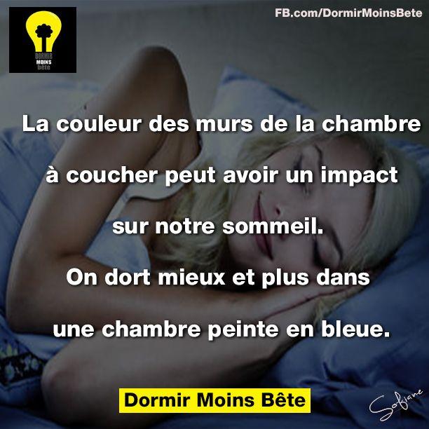 La couleur des murs de la chambre à coucher peut avoir un impact sur notre sommeil. On dort mieux et plus dans une chambre peinte en bleue.