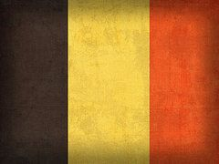 Belgium Flag Art - Belgium Flag Vintage Distressed Finish by Design Turnpike