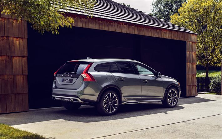 Download wallpapers Volvo V60, 2019, 4k, exterior, compact crossover, new brown V60, Swedish cars, Volvo