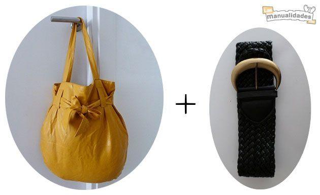 старая сумка и ремень