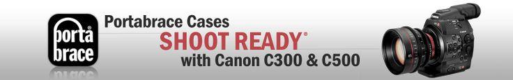 PortaBrace - Canon C300 | Canon Camera Cases, Canon C500