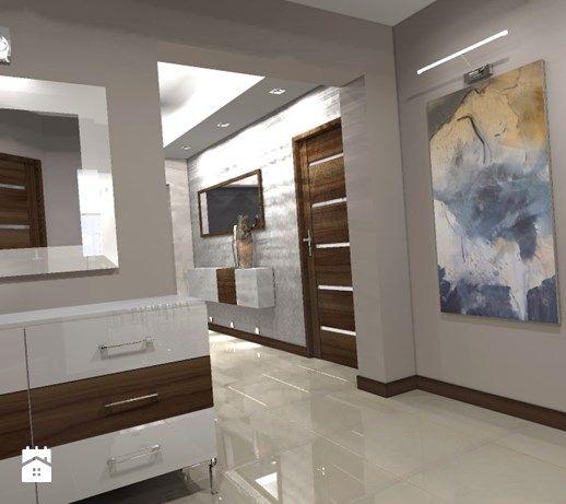 Aranżacje wnętrz - Hol / Przedpokój: Projekt domu w stylu nowoczesnym 92 m2 (2013) - Hol / przedpokój, styl nowoczesny - Design By. Przeglądaj, dodawaj i zapisuj najlepsze zdjęcia, pomysły i inspiracje designerskie. W bazie mamy już prawie milion fotografii!
