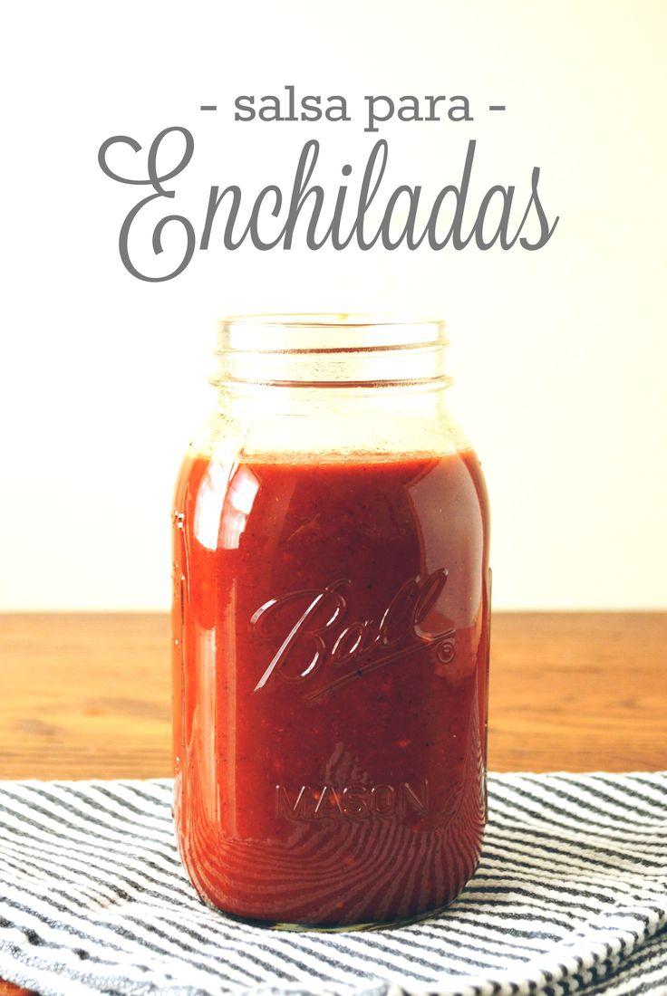 Esta es una de nuestras salsas favoritas! El otro día andaba en busca de una rica salsa para enchiladas… las que venden en los supermercados son buenas, pero nada como las hechas en casa. Enc…