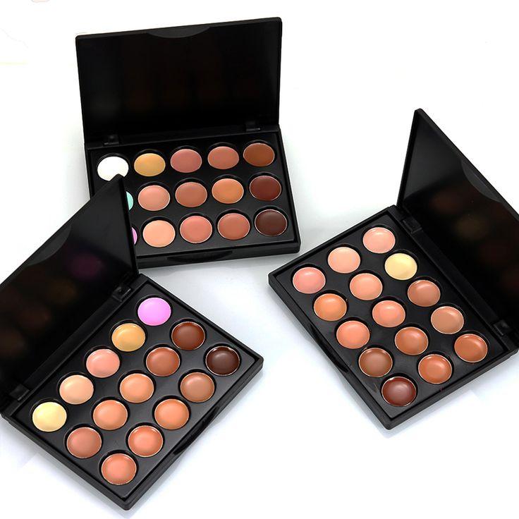 15 warna Merek Makeup Dasar Warna Korektor Contour Cream Concealer Palette Konsiler