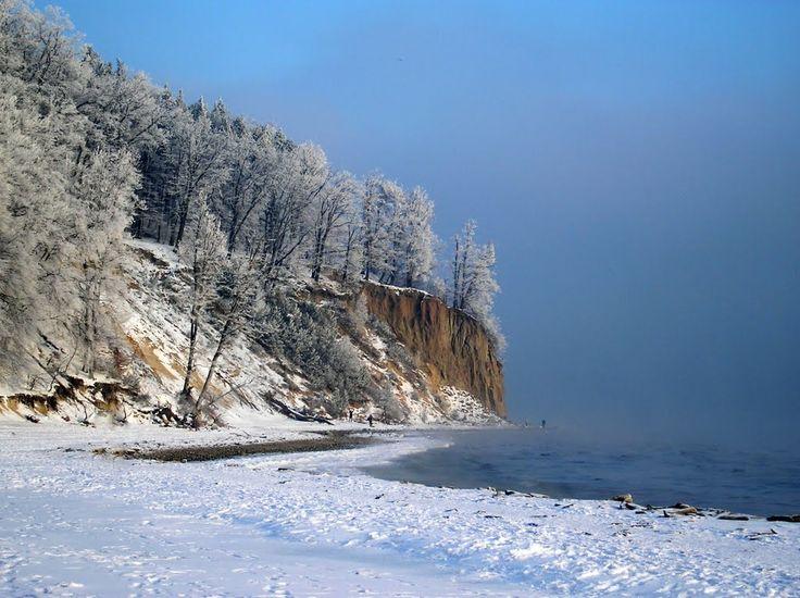 beach in Gdynia Orłowo, Poland
