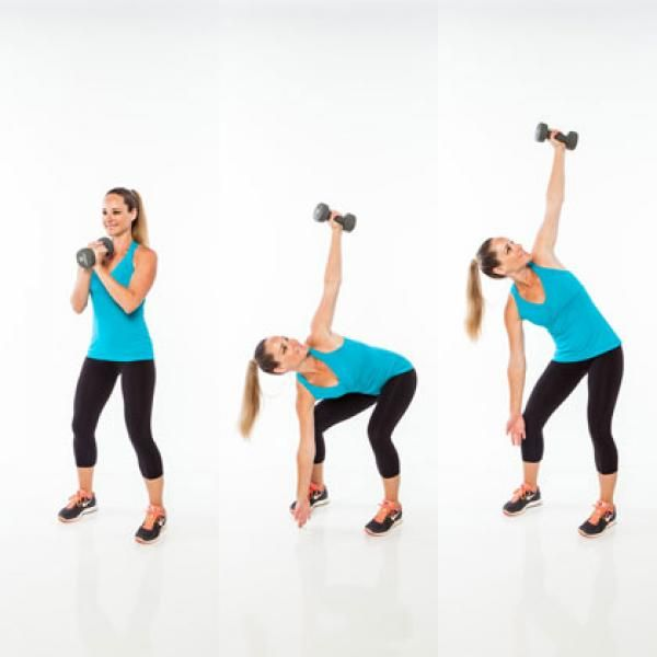 Core Exercises with Weights: Single-Arm Sit-Up - Abs Workout Plan: 6 Weight Exercises to Get a Six-Pack - Shape Magazine