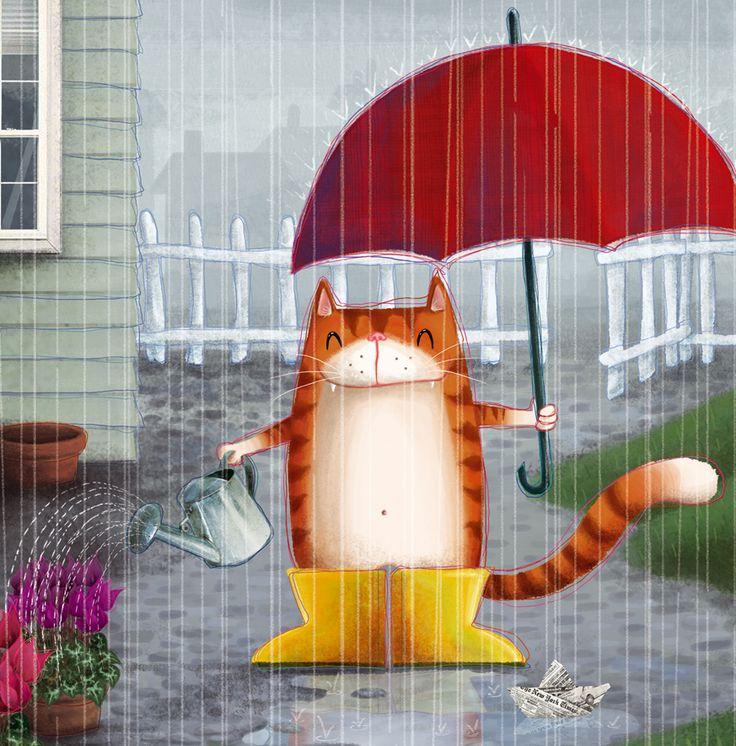 agua, mucha agua; ilustración de  Barbara Cantini