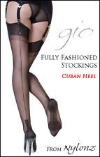 Gio Fully Fashioned Stockings -Imperfects- All Sizes & Colours FREE UK SHIPPING