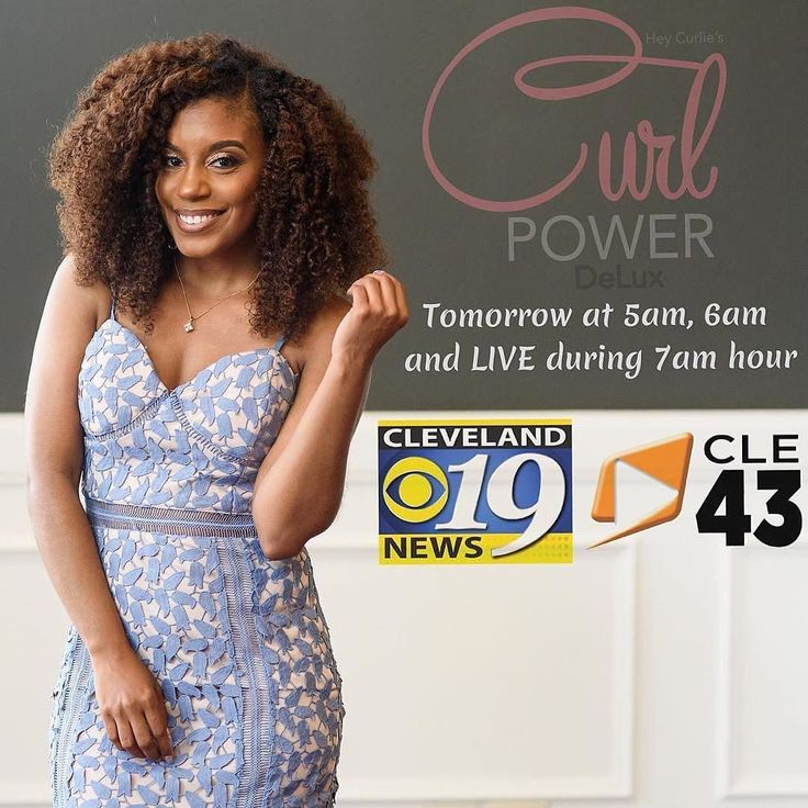 AYYYEEEE!!!!!!!  we gonna be on tv! And by we I mean @heycurlie and @tvnewslady and our hair! #Repost @heycurliecurlpower  #Cleveland Tomorrow @tvnewslady will be giving the inside scoop on  @heycurliecurlpower Delux tomorrow on @cleveland19news at 5am 6am (channel 19) and  I'll be LIVE on Channel 43 in the 7am hour to talk all about Curl Power! Tune in  . #clevelandnaturals #heycurlie #cleveland19news #curlpowerbrunch #kinkycurlyyaki . @kamron_khan