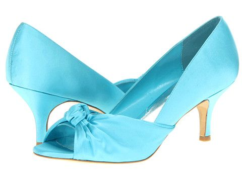 why hello bright blue shoes with a low heel for $79.  Would you like to be a part of my wedding day?