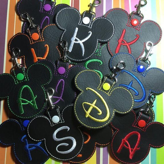 Mickey Inspired Luggage Tag, keychain or backpack clip - pick your colors