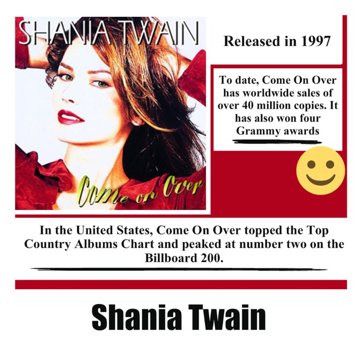 Come On Over Album by Shania Twain #shaniatwain #country #countrymusic #countrypop #pop #song #music #album #musica #singer #songwriter #video #youtube