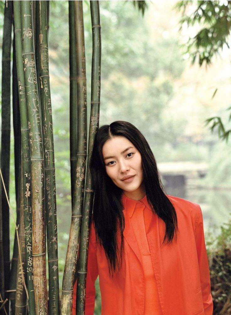 liu wenAngel Stylus, Hair Ideas, Liu Wen, Editorial, Burnt Orange, Orange Blouses, Magazines, Layered Hair, New York Times
