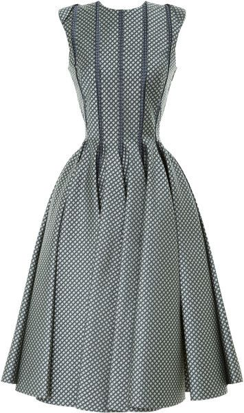 Thom Browne Gray Sleeveless Paneled Jacquard Dress