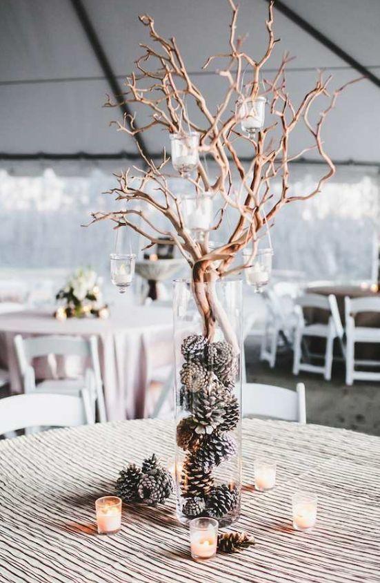Photographer: Teale Photography; Wedding reception centerpiece idea;