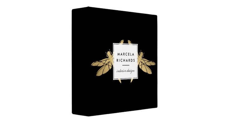 Coordinates with the Elegant Faux Gold Dragonfly Duo on Black Business Card Template by 1201AM. An elegant and unexpected pair of faux gold dragonflies peak out from behind a stylized plaque holding your name or business name on this personalized binder. Perfect for stylish professions such as interior designer, stylist, lifestyle blogger, garden designer, cosmetologist and more. This product is part of a series of coordinating office supplies to help brand your business. Original…