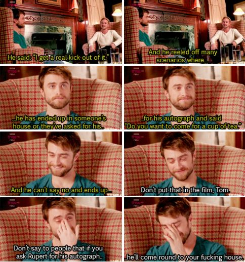 Tom and Daniel talk about Rupert Grint about he can't say no to his fans in Tom Felton Meets the Superfans.