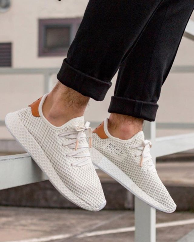 adidas Deerupt Runner in the clean cloud white ash pink