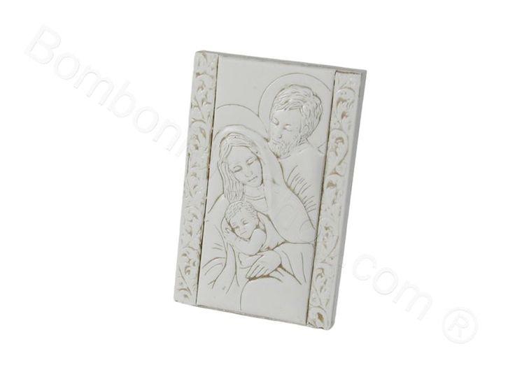 Sacra Famiglia in bassorilievo con scatola di serie per il fai da te
