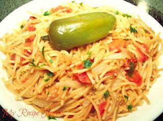 Mexican Spaghetti Side Dish...I Love the Authentic Mexican Flavor of This Side Dish! So Easy to Make Also!!!