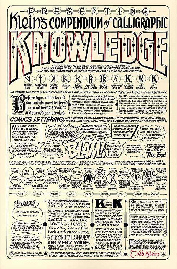 How important is good lettering?