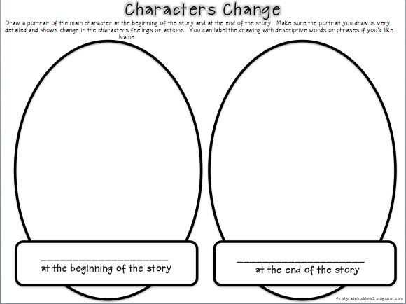 Character Change freebie from First Grade Buddies