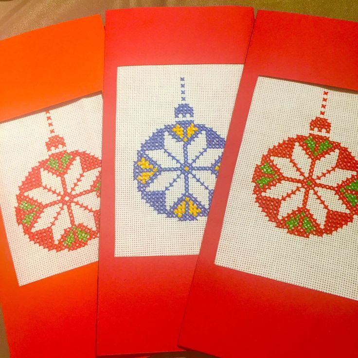 Handmade Christmas Cards with linen lavender sachet