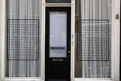 Rongwrong: Window Display, Shops Window, Window Decals, Vajza Say, Alphabet, Dots, Window And Doors, Annie Wu, Shops Front