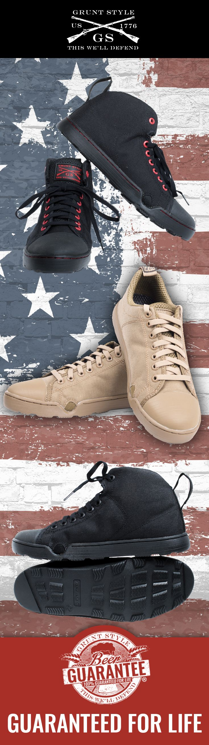 100% GUARANTEED FOR LIFE  We know living a freedom fueled life can get a little messy.   If anything happens we'll send you a new pair no questions asked.