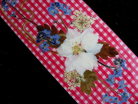 TWO Real Flower Valentines Bookmarks Friend Gift by mingogardens