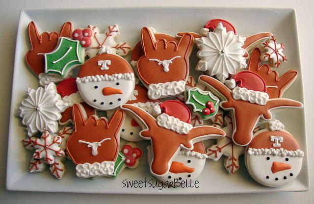 Hook �Em Horns {Texas Longhorns Cookies}