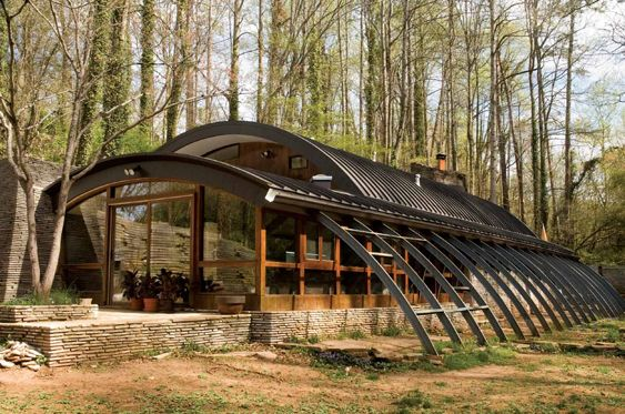 Quonset metal building home pinterest for Modern quonset homes
