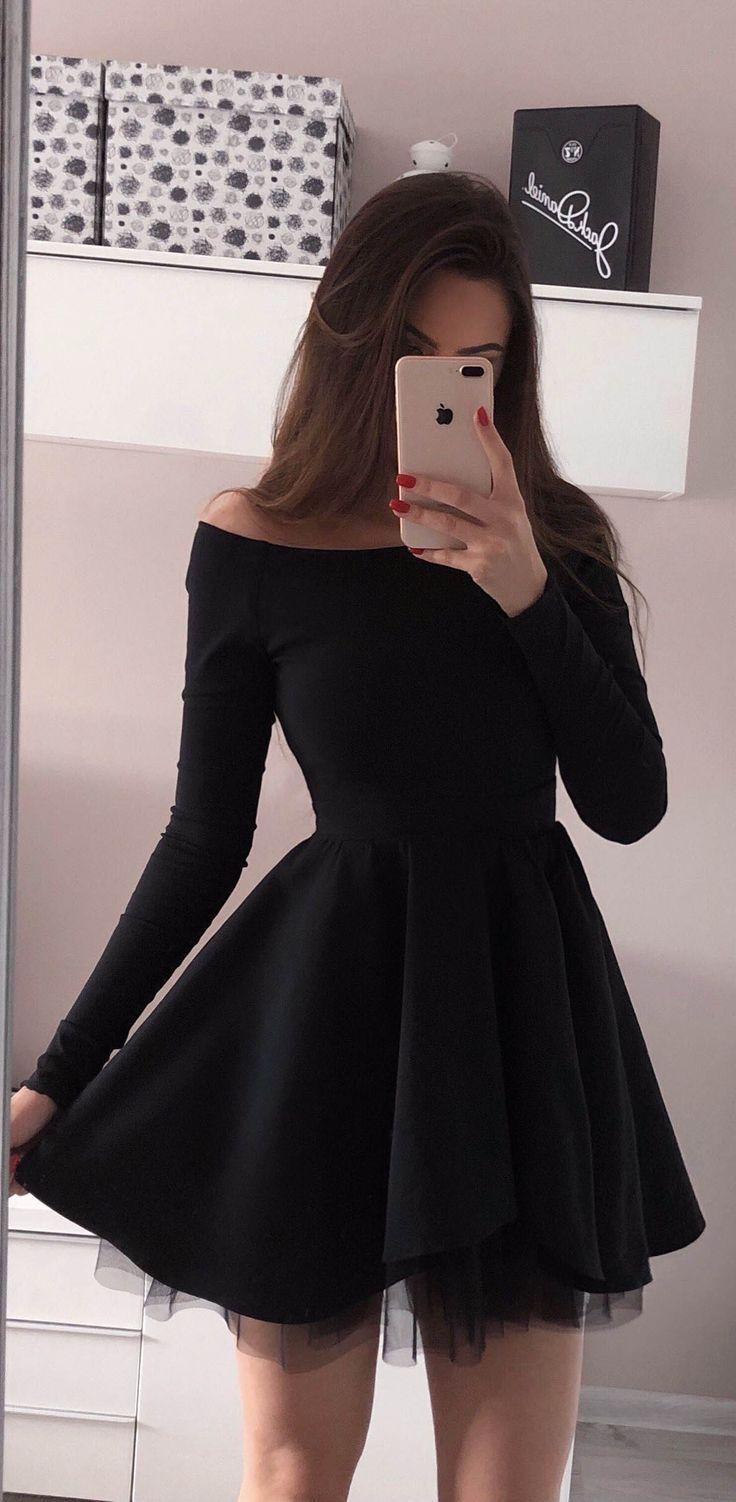 robes hoco simples, robes de soirée noires, robe de bal
