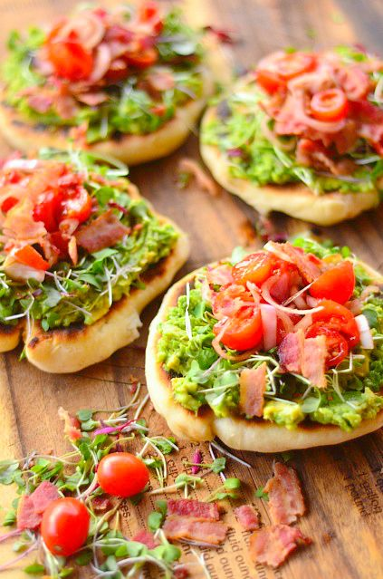 SO easy. No Baking! Bacon-Avocado Griddle Pizzas