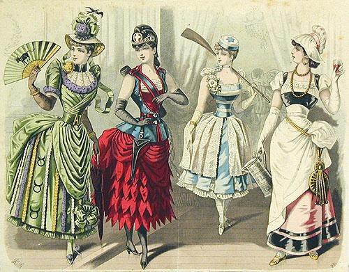 Fancy Costume Party Ball Masquerade Victorian, shorter dresses, more open flirtation